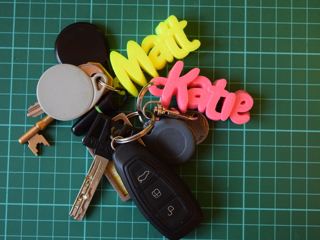 3d printed free keychain india